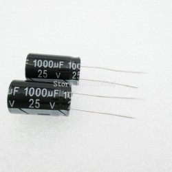 Hliníkový elektrolytický kondenzátor 1000uF 25v 10 *